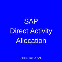 SAP Direct Activity Allocation
