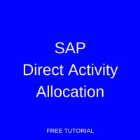 SAP Direct Activity Allocation