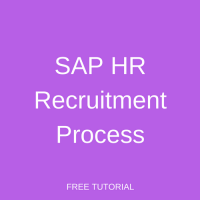 SAP HR Recruitment Process