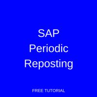 SAP Periodic Reposting