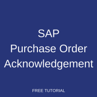 SAP Purchase Order Acknowledgement
