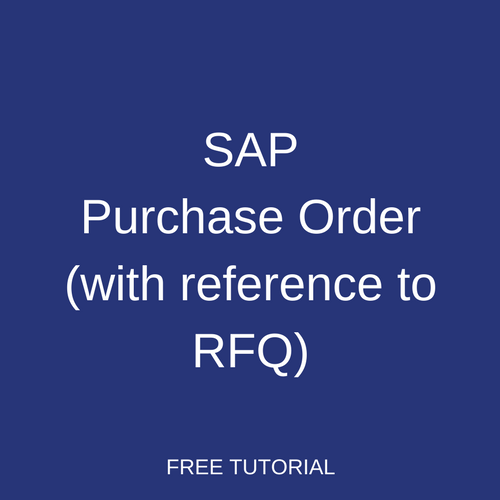 SAP Purchase Order (with Reference to RFQ)