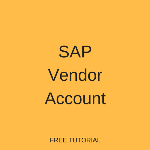 SAP Vendor Account