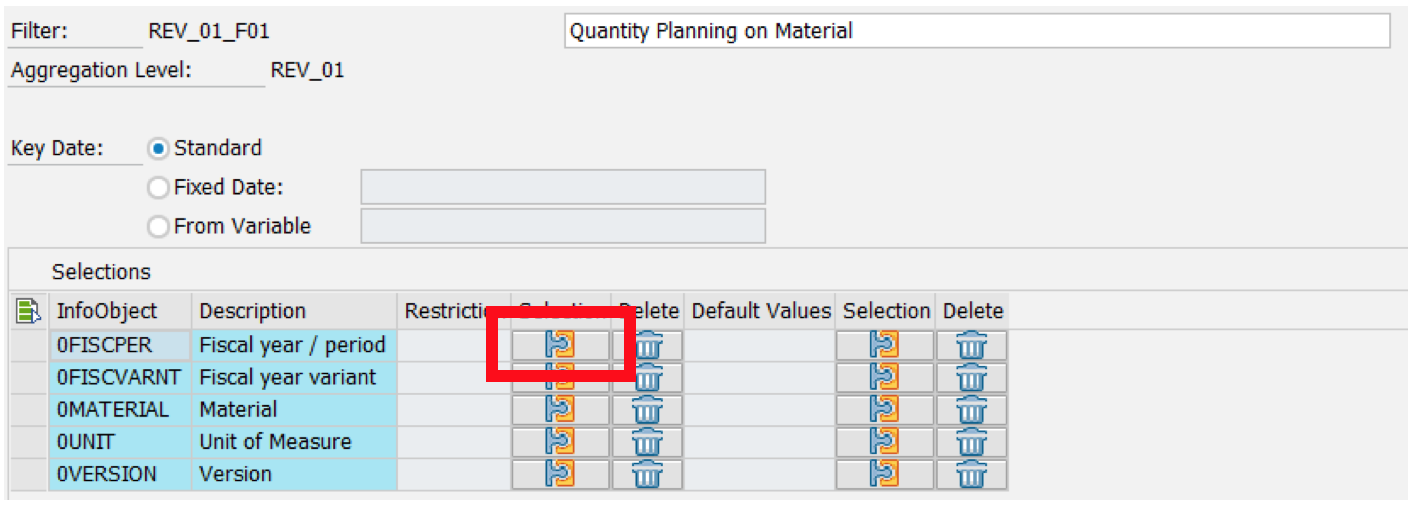 Selection Button in SAP Filter