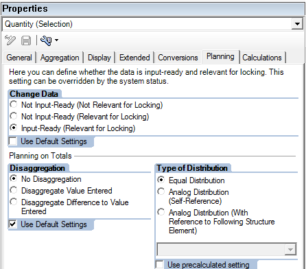 Key Figure Properties (Quantity)