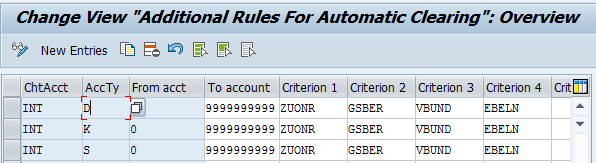 SAP Automatic Clearing Rules