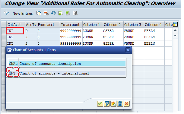 SAP Automatic Clearing Rules – Chart of Accounts