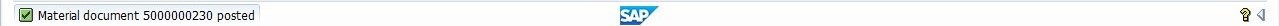 SAP Material Document Number