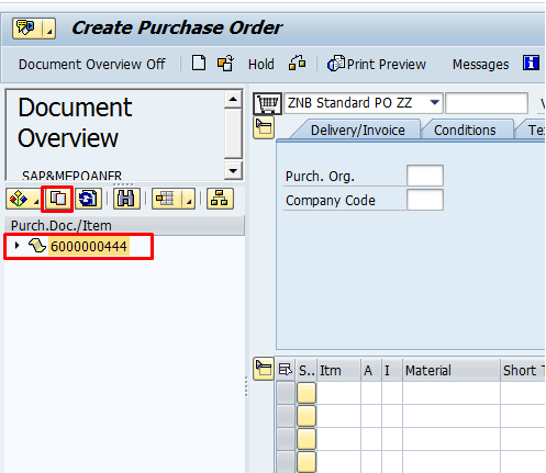 Adopt the RFQ in SAP Purchase Order