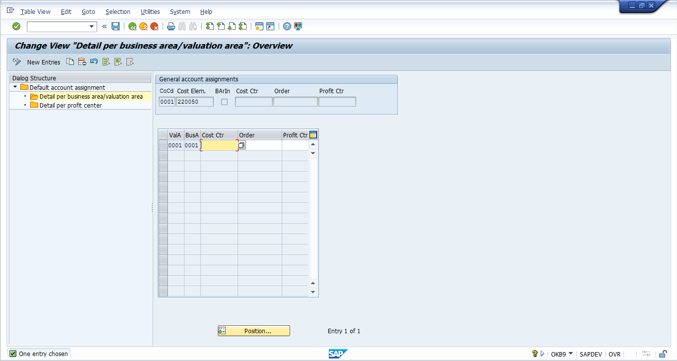 account assignment Sap help portal.