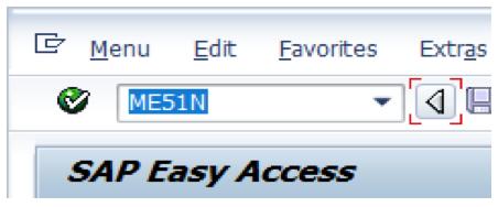 Enter ME51N Transaction