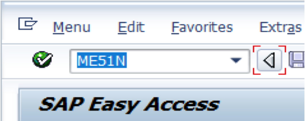 Enter ME51N