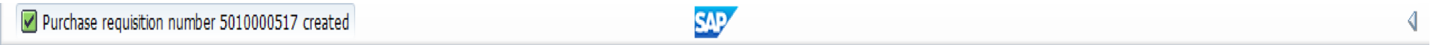 SAP Purchase Requisition Number