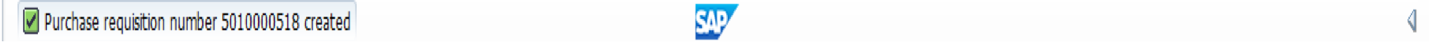 New SAP Purchase Requisition Number