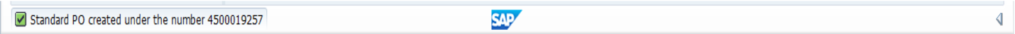 SAP Purchase Order Created with a Reference to SAP Purchase Requisition with Material Master Record