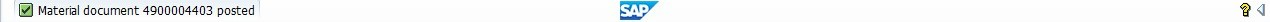 SAP Goods Receipt Material Document Number