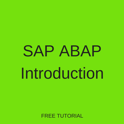 SAP ABAP Introduction