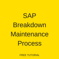 SAP Breakdown Maintenance Process