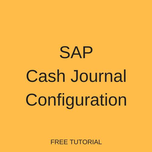 SAP Cash Journal Configuration