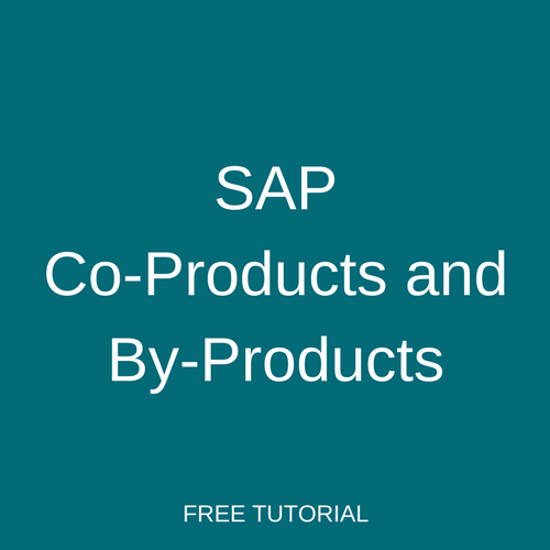 SAP Co-Products and By-Products