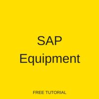 SAP Equipment
