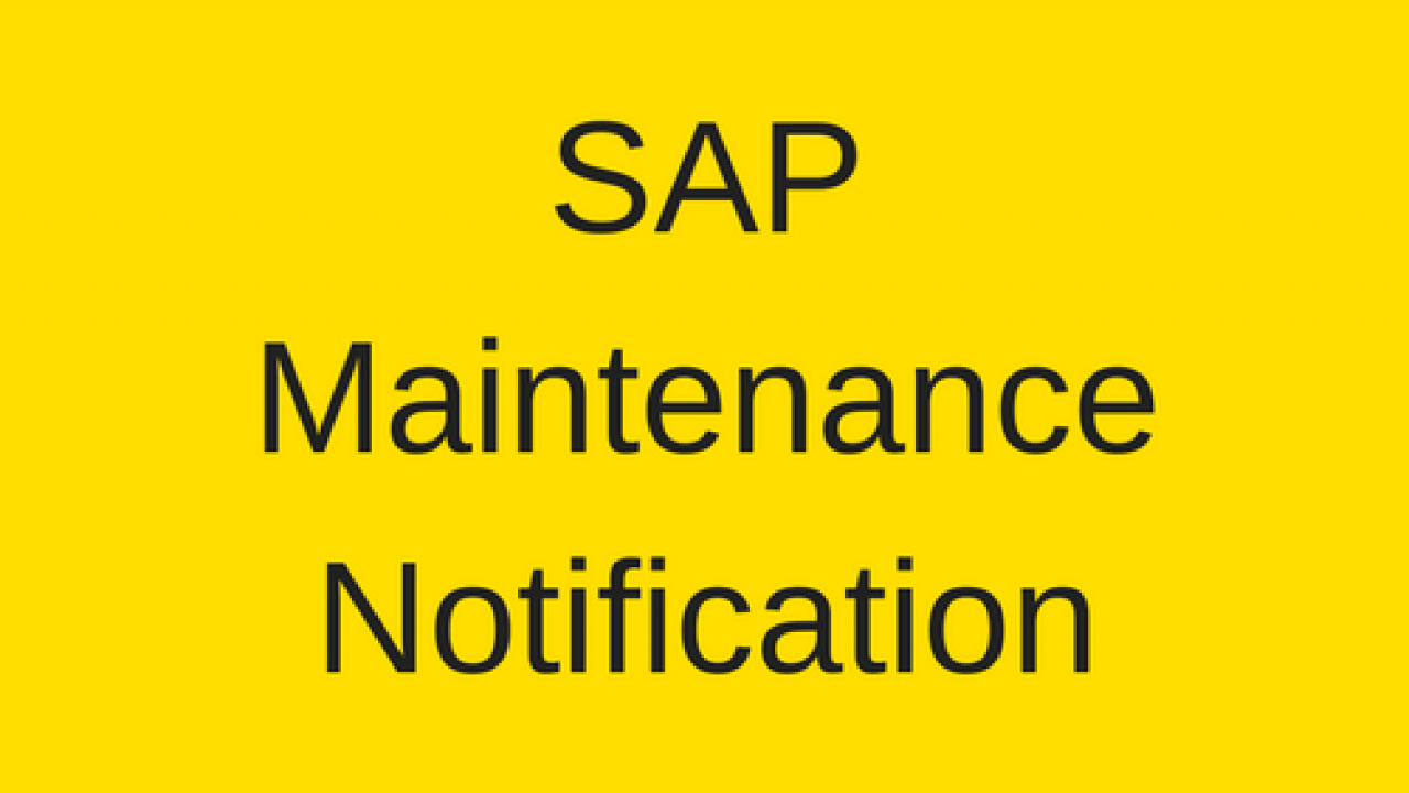 SAP Maintenance Notification Tutorial - Free SAP PM Training