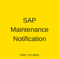 SAP Maintenance Notification