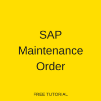 SAP Maintenance Order