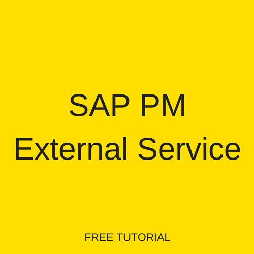 SAP PM External Service