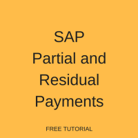 SAP Partial and Residual Payments