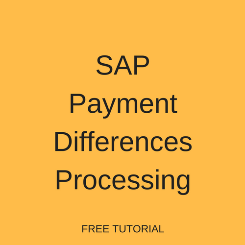 SAP Payment Differences Processing