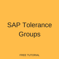 SAP Tolerance Groups