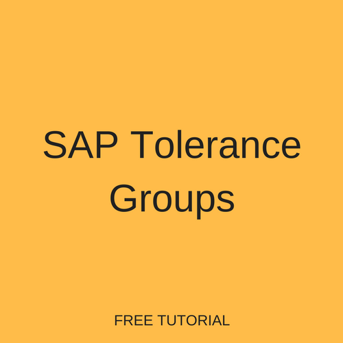 SAP Tolerance Groups