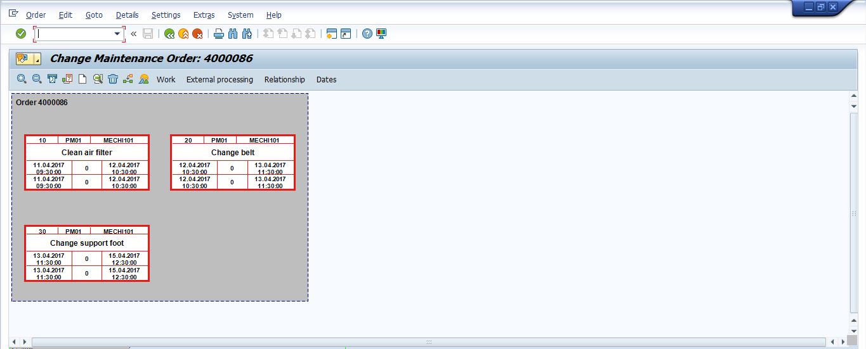 SAP Maintenance Order: Network Structure (1)