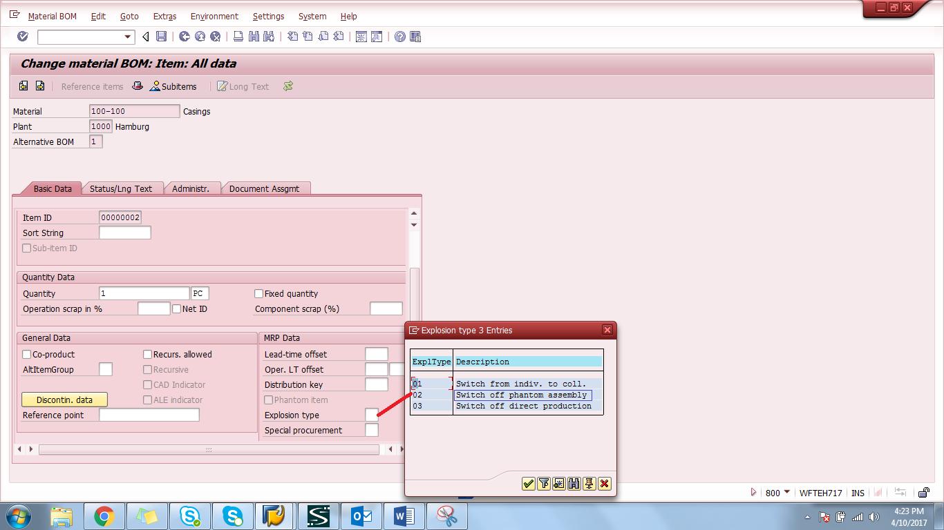 SAP Phantom Assembly Off Indicator in BOM