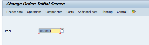 Change SAP Plant Maintenance Order