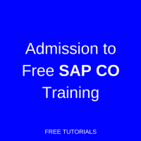 Admission to SAP CO Training