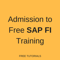 Admission to SAP FI Training