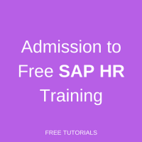 Admission to SAP HCM Training