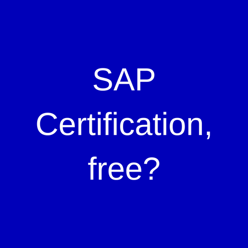 Free SAP Certification
