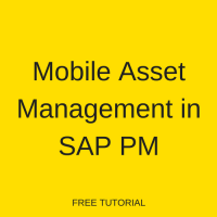 Mobile Asset Management in SAP PM