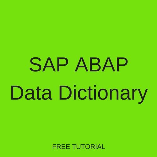 SAP ABAP Data Dictionary