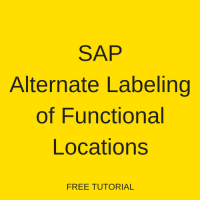 SAP Alternative Labeling of Functional Locations