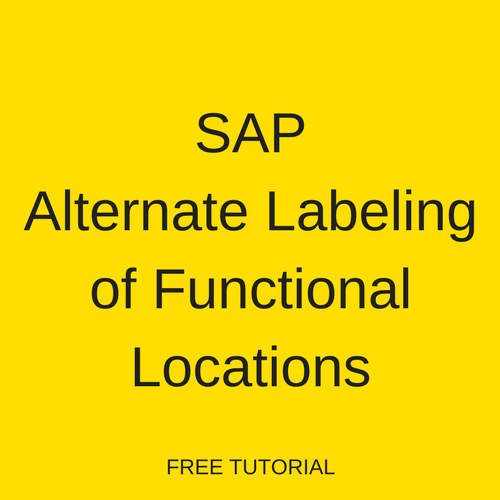 SAP Alternate Labeling of Functional Locations