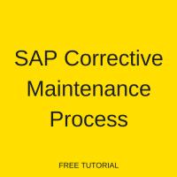 SAP Corrective Maintenance Process