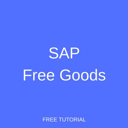 SAP Free Goods