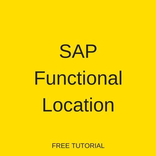 SAP Functional Location