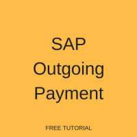 SAP Outgoing Payment