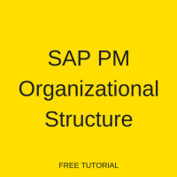 SAP PM Organizational Structure