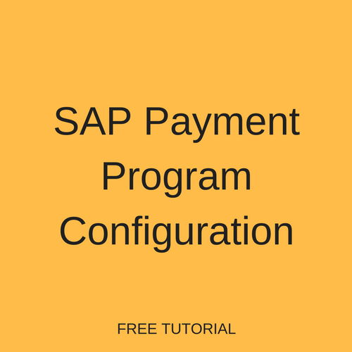 SAP Payment Program Configuration